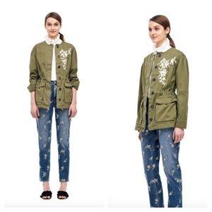 La Vie Rebecca Taylor twill military jacket size S